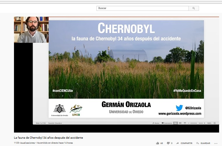«#Chernobyl fauna 34 years after the accident». Germán