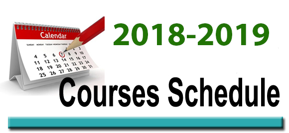 Course Schedule 18 19