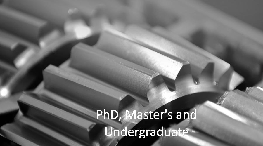 PhD, Master's & Undergraduate