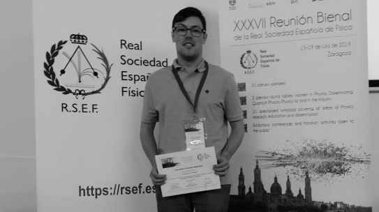 Luis Fernández has been awarded by the XXXVII Biannual Meeting of the Spanish Royal Society of Physics (PhD researchers category)