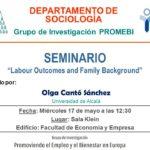 "Seminario ""Labour Outcomes and Family Background"""