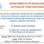 Acto de defensa de Tesis Doctoral de Gabriel Cueto Pruneda